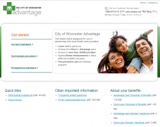 City of Worcester health insurance benefits website