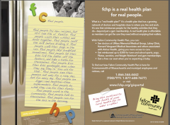 Printed direct mail for prospective health plan members