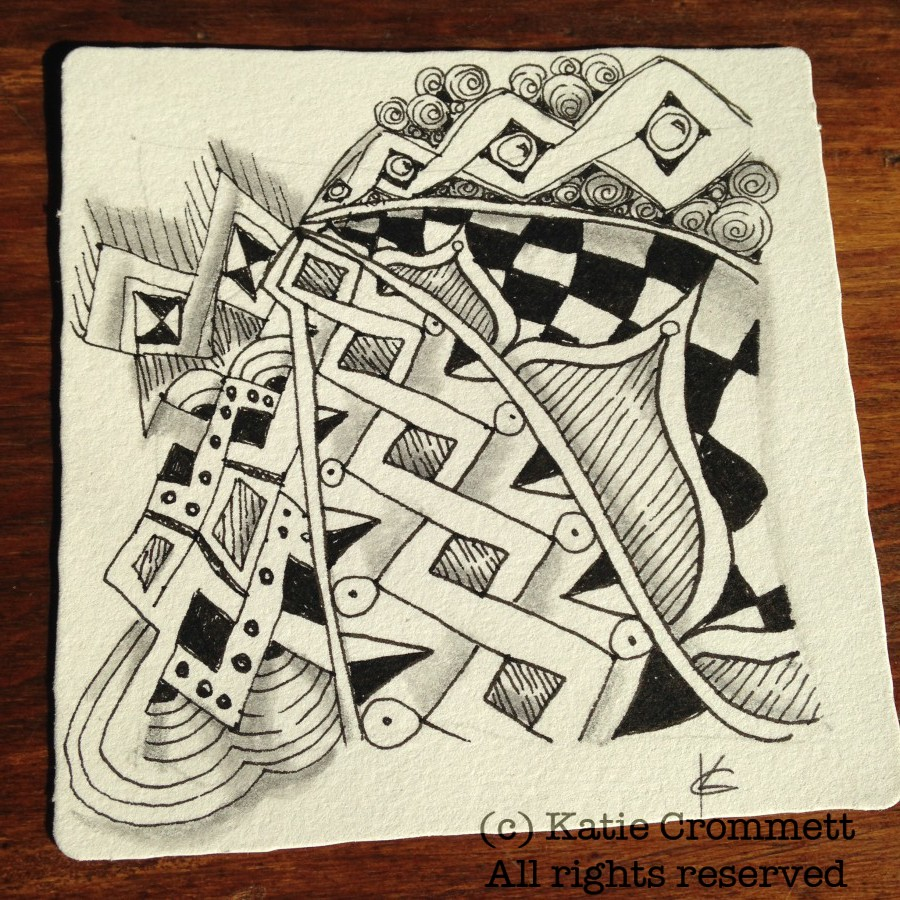 Diva Challenge Zentangle tile Copada, Chebucto, Printemps