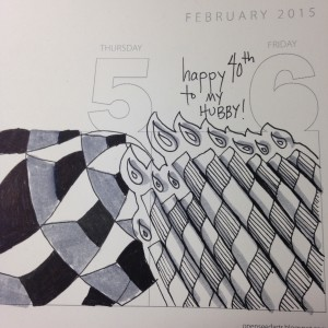 zentangle calendar birthday tangle