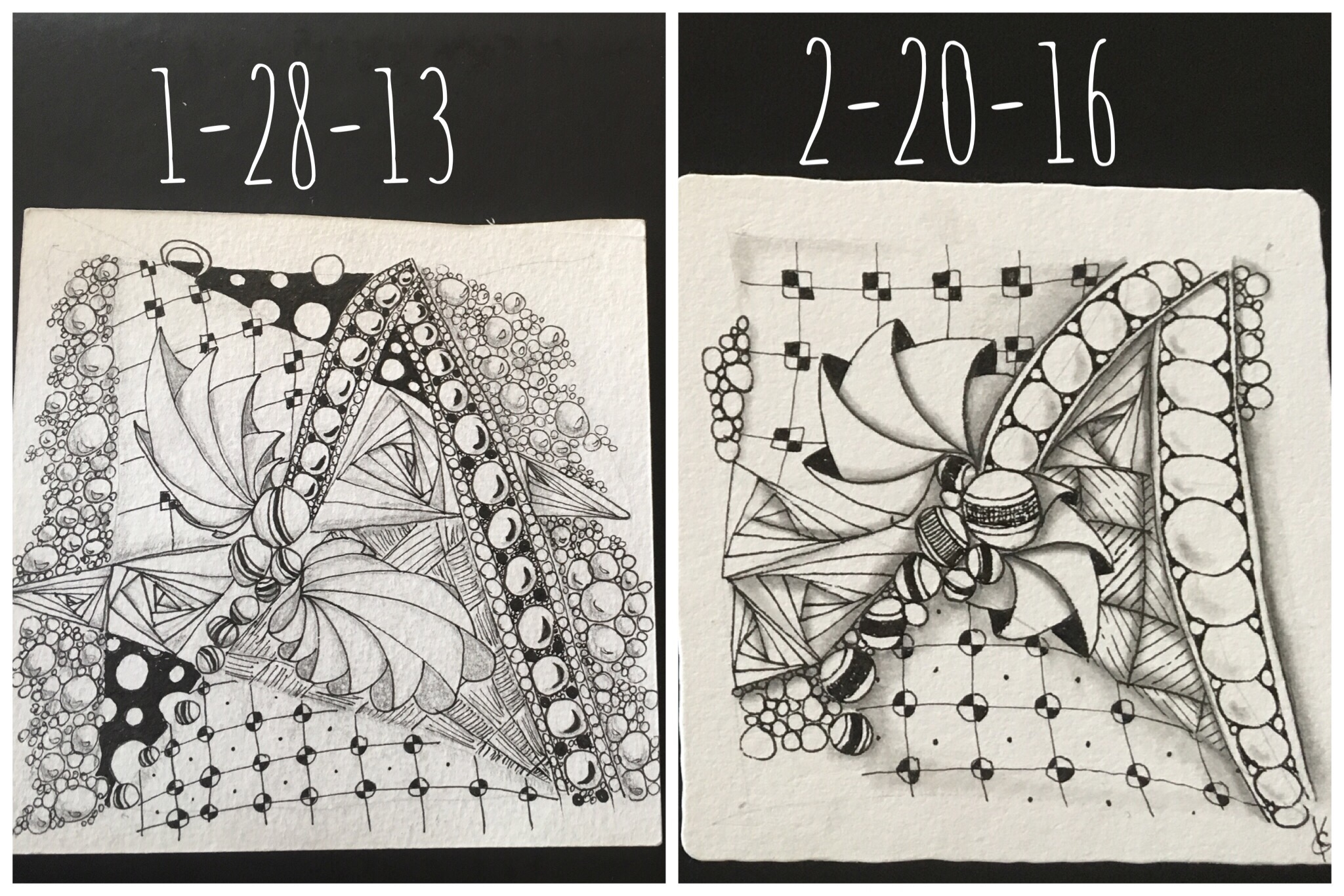 zentangle tiles comparison