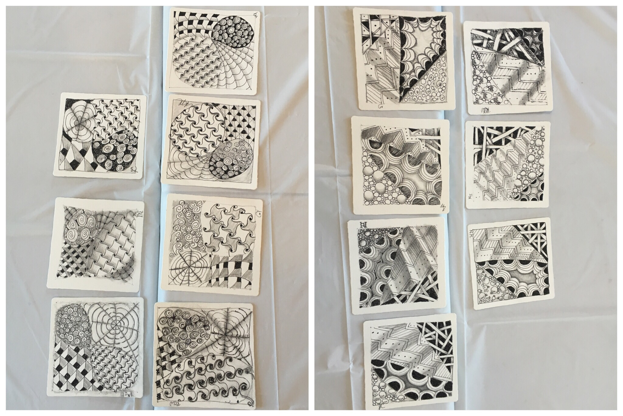 intro to zentangle collages