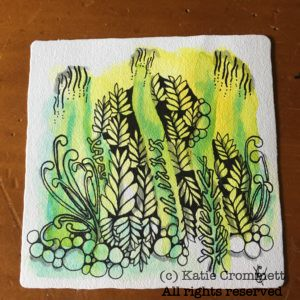 Zentangle, tile Katie Crommett