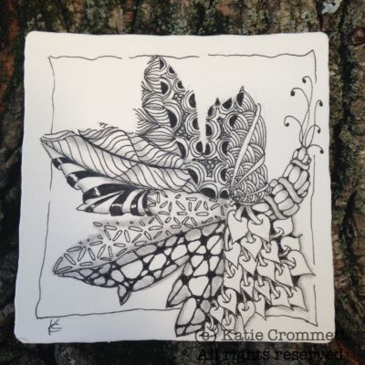 zentangle tile by katie