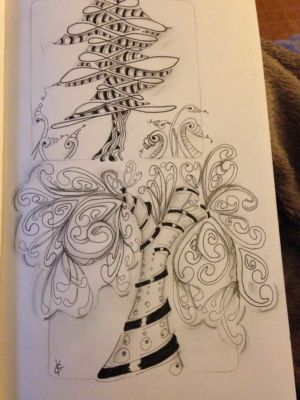 zentangle by Katie Crommett for I Am the Diva Challenge guest post Dilip Patel CZT9
