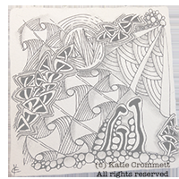 Zentangle tile by Katie Crommett