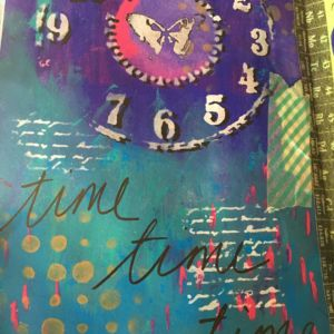 Mixed media in art journal (Close up)