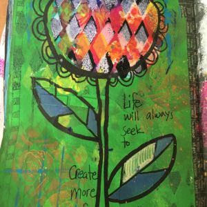 Mixed media in art journal