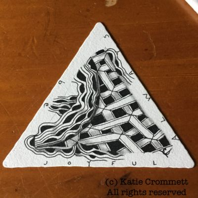 Zentangle tile, Katie Crommett